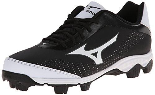 Mizuno Men's 9-Spike Franchise 7 Low Baseball Cleat,Black/White,7 M US