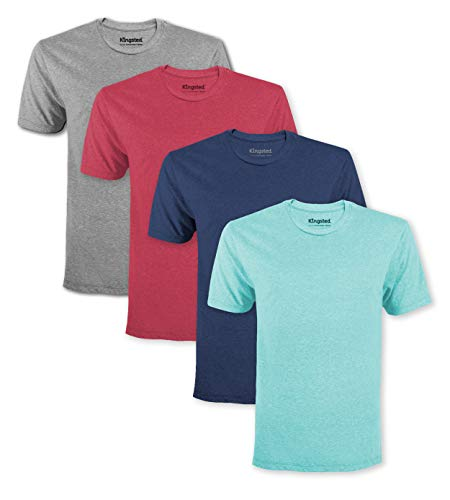 Kingsted Men's T-Shirts Pack - Royally Comfortable - Soft & Smooth - Premium Plain Fabric - Well Crafted - Crew Neck - Assorted Multipack (Favorites, XX-Large)