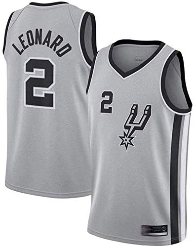 llp San Antonio Spurs NBA 2# Kawhi Leonard Jerseys, Jersey de Baloncesto para Hombres NBA Ocio Camiseta Deportiva sin Mangas (Size : Medium)
