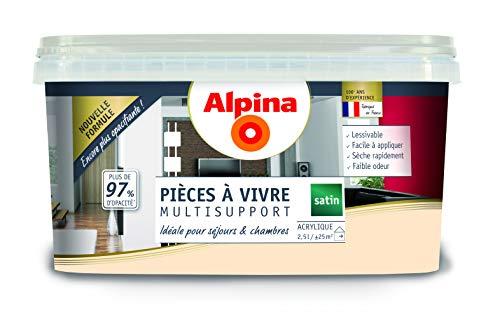 ALPINA Pièce à vivre - Blanc cassé 2,5L 25m²