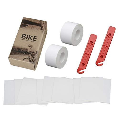 CLISPEED Fahrradreifenauflage 2. 1 M Mountainbike-Reifenliner Pannensicherer Fahrradschlauch für MTB-Mountainbike (Weiß)