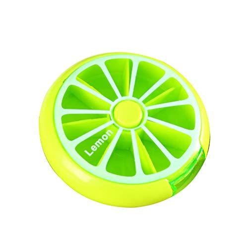 SUPVOX Mini Portapillole settimanale porta pastiglie tascabile contenitore pillole dispenser settimanale pillole (verde)