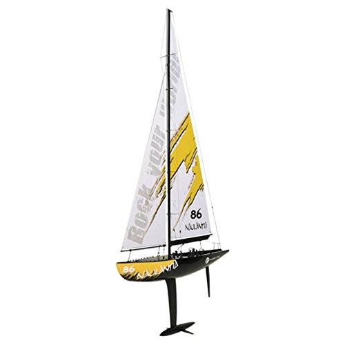 Racing-Segel-Yacht NAULANTIA 1:25, Baukasten, ROT