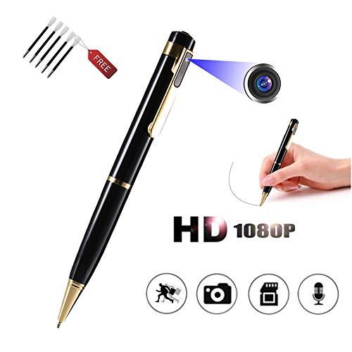 Kleine Versteckte Tragbare Stift Kamera – Getarnt Aufzeichnung Kugelschreiber Spion Überwachungs Kameras Mini Full HD 1080P Für Besprechungen Vorträge Usw