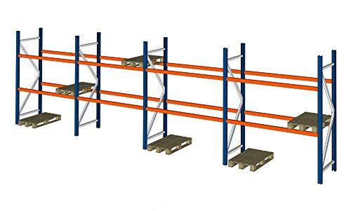 SLP B 11,3m H 2,74m Palettenregal Hochregal Schwerlastregal Lager Regal 3000 kg