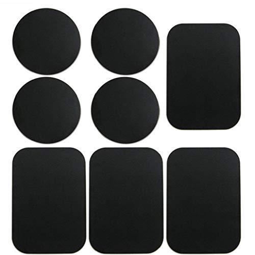 shentaotao Placas de teléfono Placas de Metal del Montaje del Metal Coche de la Etiqueta Reemplazar para Montaje del Coche del teléfono Negro