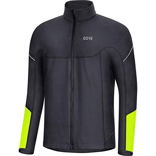 GORE WEAR M Thermo Herren Langarm-Shirt, XXL, Schwarz/Neon-Gelb