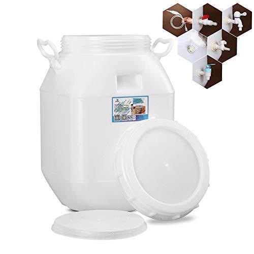 Foldable bucket Kunststoff-Wasserspeichertank im Freien, 50L Trinkwasserspeicherbehälter für Den Haushalt, Speicher Wassertank Mit Wasserhahn Notfall, Industrielles Chemisches Fass