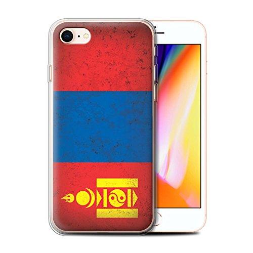 Telefoonhoesje voor Apple iPhone SE 2020 Aziatische vlag Mongolië/Mongoolse ontwerp Transparant Helder Ultra Zachte Flexi Siliconen Gel/TPU Bumper Cover