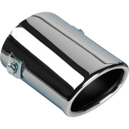 Autostyle Auspuffblende, oval, kurz, 80x60x105->55mm