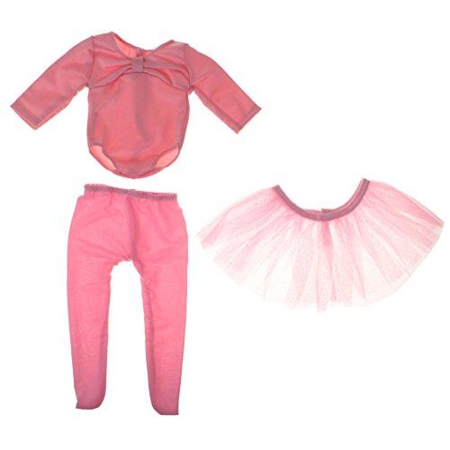 Toygogo Ropa De Traje De Baile De Ballet Rosa para Muñeca De 18 '' Americana