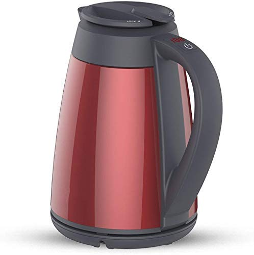 Electric Kettle, Cordless Travel Kettle Maak Electric Kettle Stainless Steel Red Double Anti-hot 1800W 1.5L Automatic Power Off Isolatie Home Reizen Waterkokers