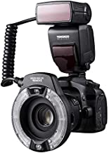 YONGNUO YN14EX II Macro Flash for Canon DSLR Cameras with Large Size LCD Display Adapter Rings Color Temperature Filters Hot Shoe Mount Support M/TTL Flash