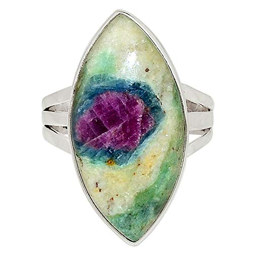 Xtremegems Ruby in Fuchsite 925 Sterling Silver Ring Jewelry Size 9 32559R