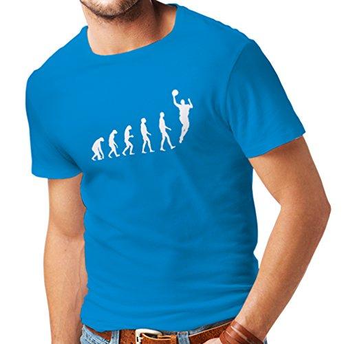 Camisetas Hombre evolución de Baloncesto - Canasta de la Calle, me Encanta Este Juego, Gran Fan de Regalo (Medium Azul Blanco)