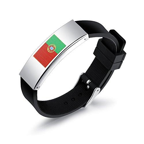 VANKER 2018 Coupe du Monde National International Flag Silicone Sports Fans Bracelet Men Wristband Drapeau du Portugal