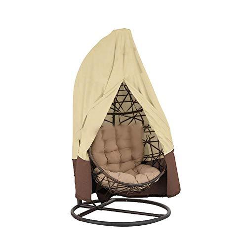biteatey Patio – Funda para sillón Colgante, Cubierta para Silla oscilante, Impermeable, Resistente al Polvo para Patio jardín, marrón Claro, 190x115cm (74,8 * 45.2in)