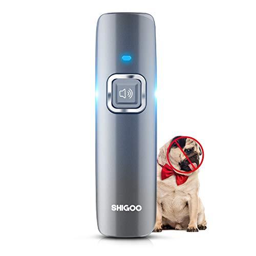 SHIGOO Anti Barking Device, Ultrasonic Dog Bark Deterrent & 2 in 1 Dog Training Aid Control, Sonic Dog Bark Control, No Barking - Use Outdoor & Indoor