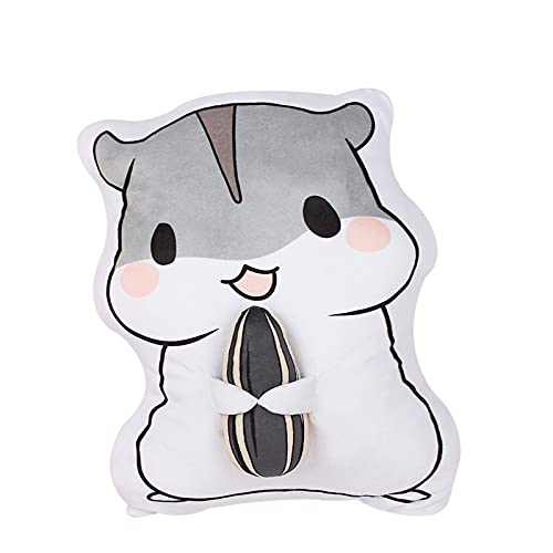 Soft Hamster Stuffed Animals Toy Pillow Cartoon Small Hamster Stuffed Toy with Sunflower Seeds Mouse Soft and Comfortable Plush Doll Birthday Gifts for Kids Girlfriend