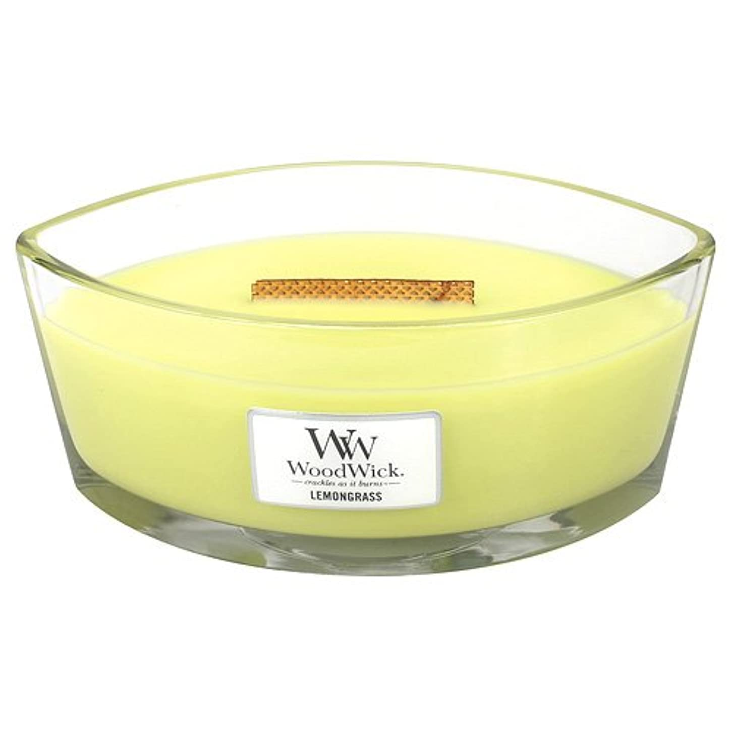 櫛添加すなわちレモングラスHearthWick Flame Large Scented Candle by WoodWick