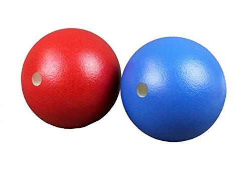 S.B.J - Sportland Softball/Schaumstoffball blau mit Elefantenhaut, Durchmesser ca. 20 cm mit 2 cm Bohrung, ekarate e-Karate