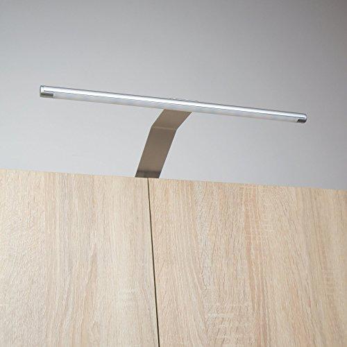 LED Kleiderschrankleuchte Aufbauleuchte Schrankbeleuchtung Regalbeleuchtung, Lichtfarbe:warmweiß, Setgröße:3er SET, Schalter:mit Fußschalter