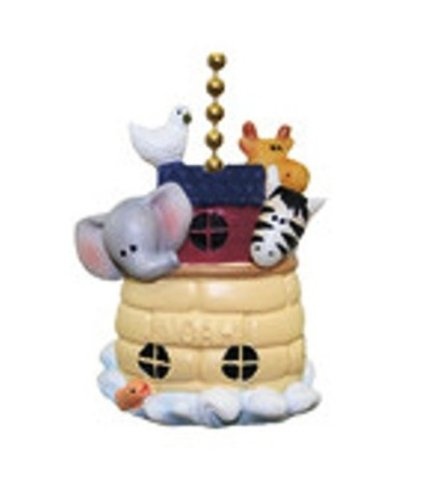 Clementine Designs Noah's Ark Animals Elephant Giraffe Zebra Dove Fan Pull