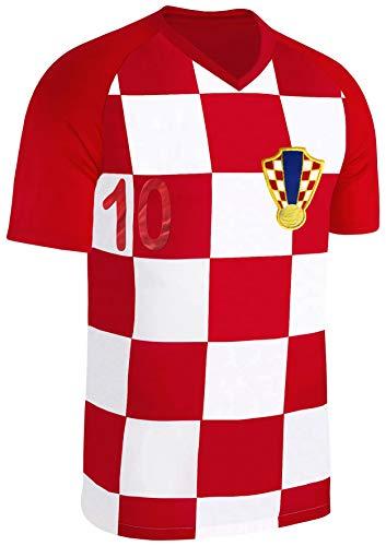 Blackshirt Company Kroatien Trikot Fußball Fan Trikot Rot Größe L