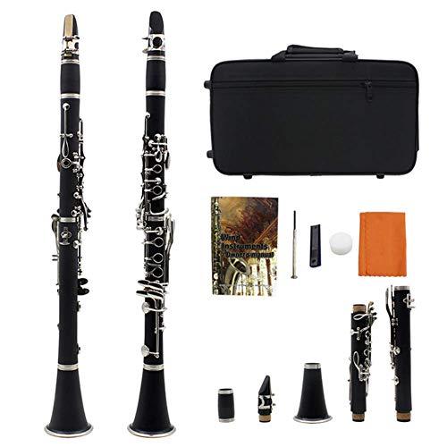 N / A Ebony 17 Key Advanced B Flat Flat Flat Clarinet Set,...