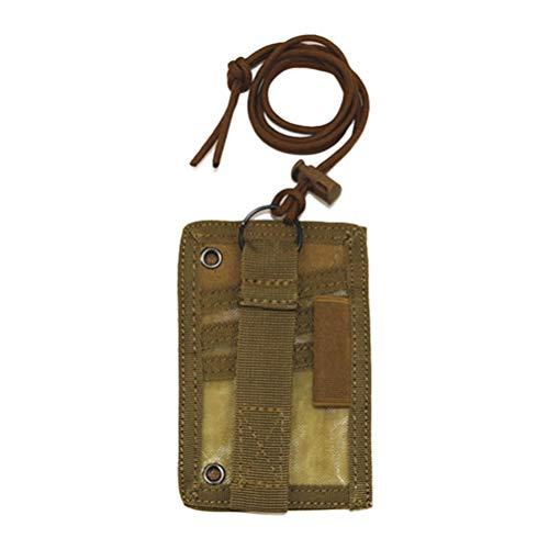 Jourbon Tactical Badge ID Karte Namensschild Abzeichenhalter Schutz mit Nackenband Schlüsselbänder Taktische Fischen Vertikale für Geschäft Schule Veranstaltung(Erdfarbe)