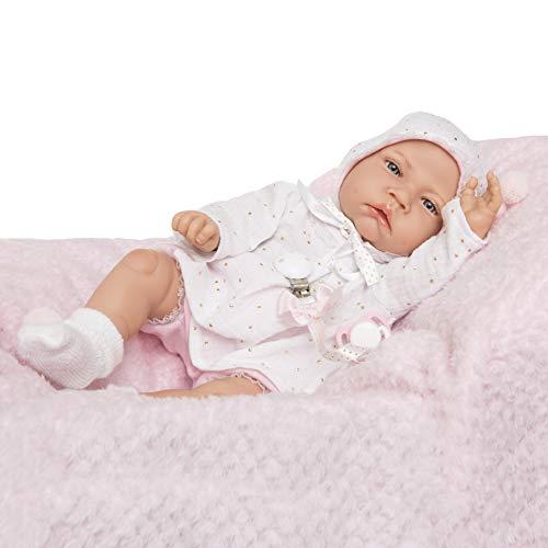 MARÍA JESÚS Bambole Reborn con rossore e Peso Speciale 2kg, Bambola Reborn con Tutto Il Corpo in Morbido Vinile Bambole Reborn Femmine 45-50cm Bambola Reborn Femmina con Molti Accessori