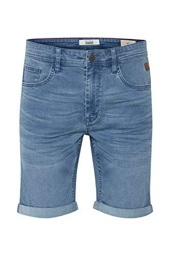 Blend Bendigo Herren Jeans Shorts Kurze Denim Hose elastisches Material aus High-Stretch-Denim Slim Fit, Größe:L, Farbe:Denim Lightblue (76200)