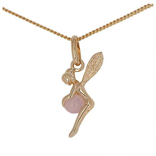 Isady – Clochette Rosa Oro – pendente Fata la piccola campana Collier con collane 40cm – 18 Karat (750) Oro giallo