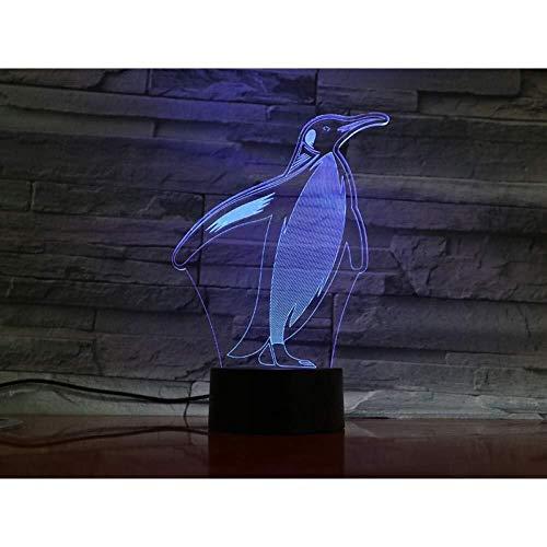 3D-Illusion LED Tier Penguin Lampe Touch-Sensor-Farbe 7, den Raum-dekorative Lampe Junge Kids Festival Geburtstags-Geschenk-USB-Gebühren Schlummerleuchten