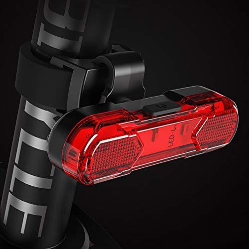 Leezo Luz trasera de bicicleta potente LED recargable por USB, luces traseras súper brillantes para bicicleta, luz trasera impermeable para bicicleta
