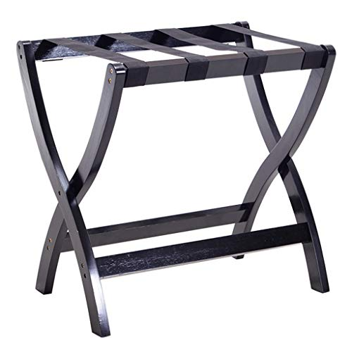 Sale!! Folding Luggage Rack Suitcase Stand Wooden Luggage Stand Backpacks (Color : B)