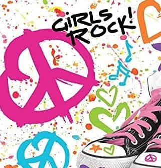 Girls store Rock Colorful Cheap super special price 80's Decoration Party Waterproof Tablecover