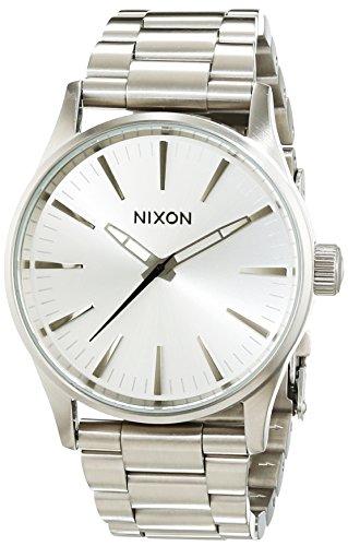 Nixon A4501920-00 - Reloj para Mujer, Cuarzo, analógico, Correa de Acero Inoxidable, Color Plateado