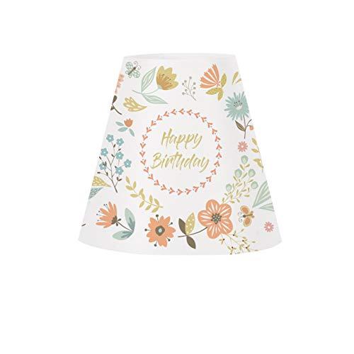 Herz & Heim® Einfallsreiche Geburtstags-Tischdeko Lampenschirm für Weinglas - Happy Birthday