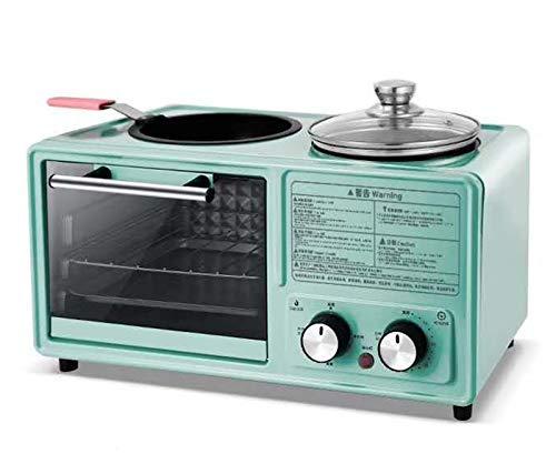 LIANGANAN El Desayuno de la máquina, 3-en-1 Multi-función Mini Tostadora Vapor, El Tiempo de 60 Minutos, el Equipo casero Cocina, Blanca zhuang94 (Color : Blue)