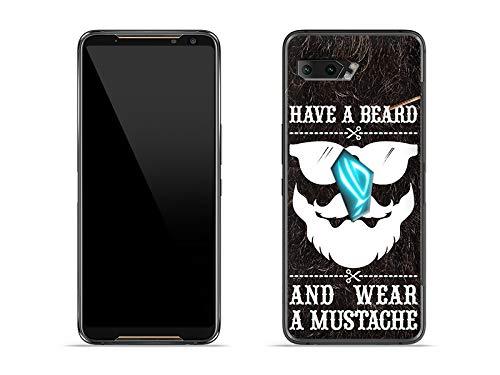 etuo Hülle für Asus ROG Phone 2 - Hülle Fantastic Hülle - Trage Bart Handyhülle Schutzhülle Etui Hülle Cover Tasche für Handy