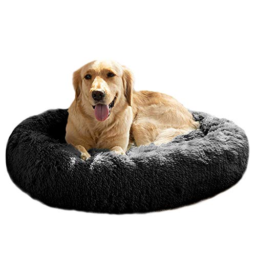 MFOX Calming Dog Bed (XL) for Medium and Large Dogs Pet Bed Donut Cuddler Up to 35lbs