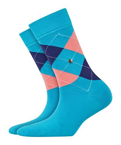 BURLINGTON Damen Socken Queen - Baumwollmischung, 1 Paar, Blau (Tuerkis 6895), Größe: 36-41