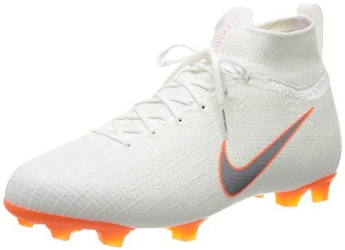 Nike Junior Superfly 6 Elite FG Botas de Futbol AH7340 Soccer Cleats (UK 4.5 us 5Y EU 37.5, White Metallic Cool Grey 107)