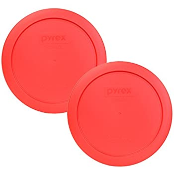 Pyrex 7201-PC Round 4 Cup Storage Lid for Glass Bowls  2 Red