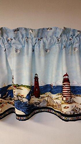 Lighthouse Border Print Valance