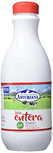 Central Lechera Asturiana - Leche UHT Entera - Botella 1500 ml - Pack de 6 (Total 9000 ml)