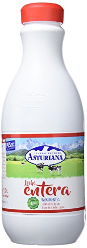 Central Lechera Asturiana - Leche UHT Entera - Botella 1500 ml - Pack de 6 (Total 9000 ml)