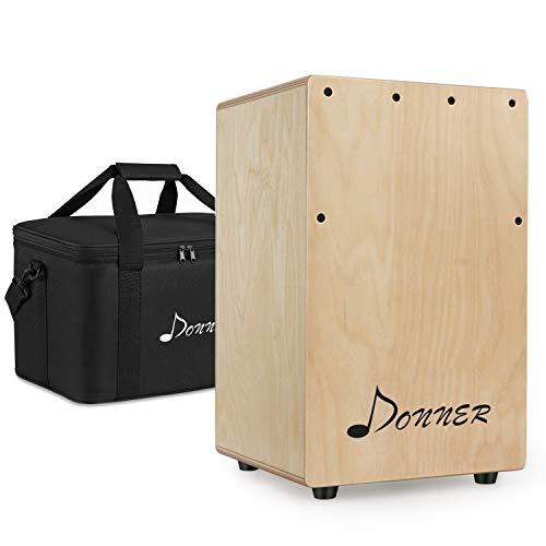 Donner DCD-1T Cajon Drum Box Mini Wooden Cajon Drum Kit Birch wood...