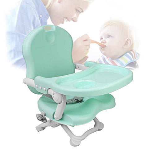 Sotech - Silla portátil para alimentación de bebés, Asiento elevador para bebé, Verde, Alto: 38/42/46/50 cm, Material: PP